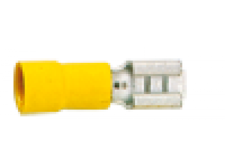 KONEKTOR IZOLIRANI  ŽENSKI 4-6 DIM.6,35X0,8 RUMEN GF-F608