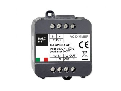 REGULATOR LED 230V 200W PUSH DAC230-1CH