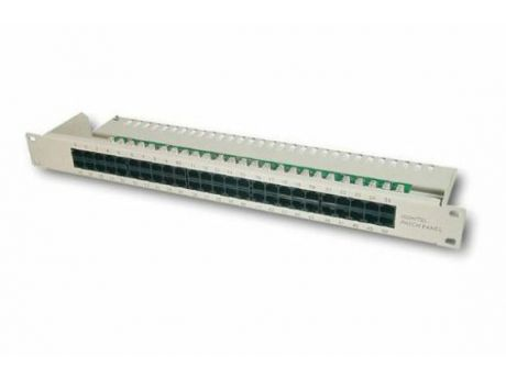 "PANEL PATCH ISDN CAT3 19"" 50 PORT RJ45 8P4C LSA 1U RAL7035 DN-91350"
