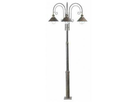 STEBRIČEK ZUNANJI  NAUTICA-8  LAMPIONE RJAVA OSSIDO 3 X E27