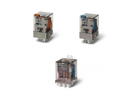 MINIATURNI RELE 60.12  2P 10A 24V DC TEST TIPKA 601290240040