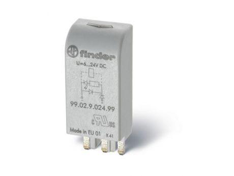 VTIČNI MODUL 99.02 110-230V AC/DC LED INDIKATOR + VARSITOR + EMC 9902023098