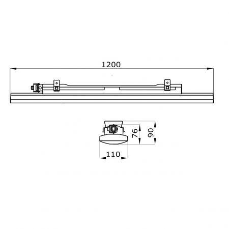 SVETILKA VODOTESNA SMART3 1200 LED 52W 4000K 6000lm 220/240V IP66/IP69 GWS3220EP840