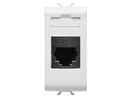 TELEPHONE CONNECTOR RJ11 IN-OUT 1M WHITE GW10402