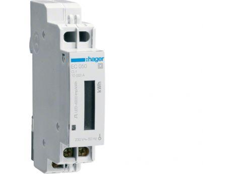 ŠTEVEC ELEKTRIČNE ENERGIJE HAGER 1F 1T 32A EC050
