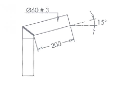 NOSILEC ENOJNI 180° CINKAN  ZA KANDELABER D60