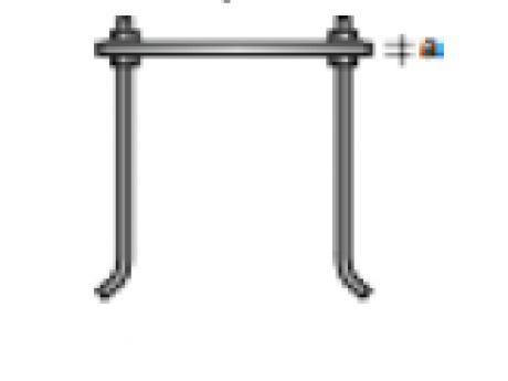 SIDRO ZA PLOŠČO 250x250 mm M16X500 Z 2x MATICO+2xPODLOŽKO potrebno 4 kos
