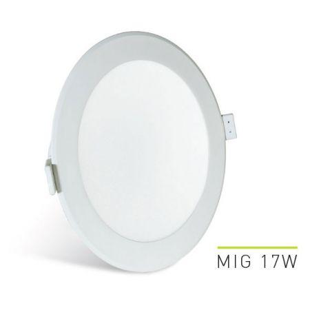 VGRADNA STROPNA SVETILKA LED MIG 17W 3000K - 4000K - 6000K 145/155MM BELA REGULACIJSKA LAB3 MIG017.LOBDCT