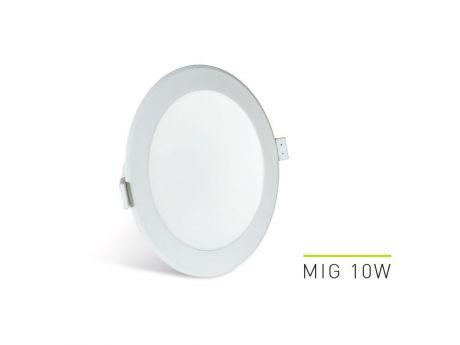 VGRADNA STROPNA SVETILKA LED MIG 10W 3000K - 4000K - 6000K  90/102MM BELA REGULACIJSKA LAB3 MIG010.LOBDCT