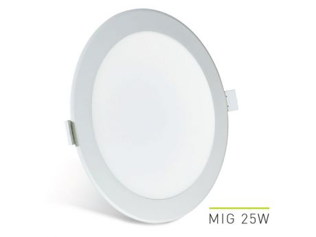 VGRADNA STROPNA SVETILKA LED MIG 25W 3000K - 4000K - 6000K 195/210MM BELA REGULACIJSKA LAB3 MIG025.LOBDCT