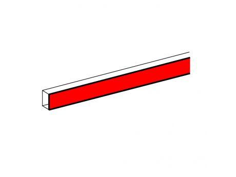 ZAKLJUČEK ALU PARAPETNEGA KANALA DLP 50X105 (POKROV 65MM) PVC ALU 011115