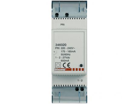 NAPAJALNIK 230V 1-2 2DIN 2-ŽICI 2 DIN 346020