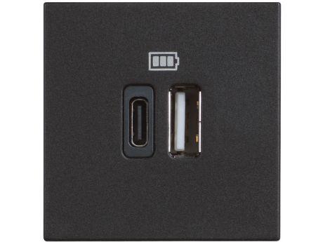 VTIČNICA CLASSIA USB POLNILNA MOD. 5V A/C 2M ČRNA