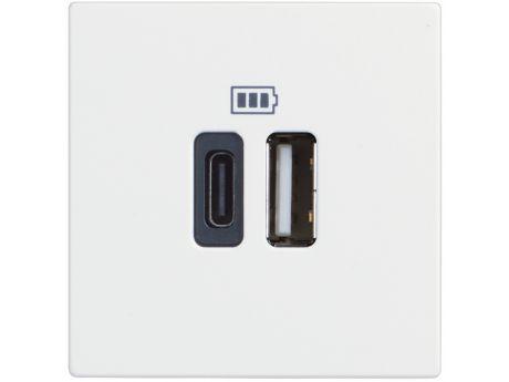 VTIČNICA CLASSIA USB POLNILNA MOD. 5V A/C 2M BELA