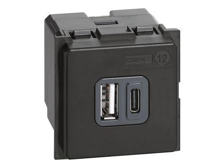 USB-POLNILNI MODUL A+C 2M 3A LIVING NOW K4287C2