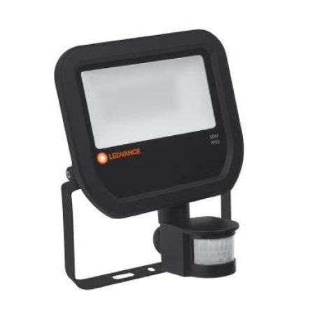 REFLEKTOR LED FLOODLIGHT LEDVANCE 50W 4000K ČRN IP65 S SENZORJEM