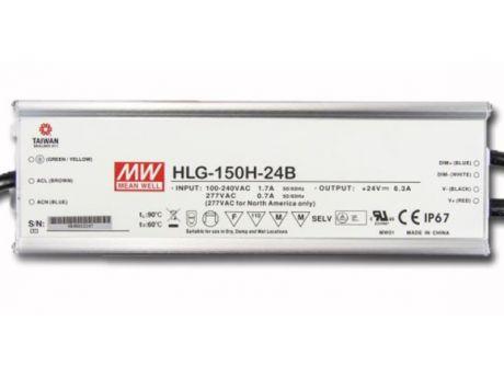 NAPAJALNIK HLG-150H-24B 150W 24V DC IP67 DIMM