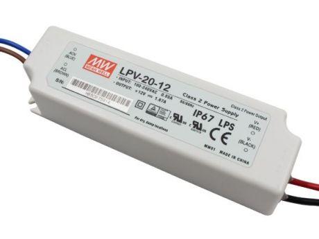 NAPAJALNIK LPV-20-12 20W 1,65A 12VDC IP67