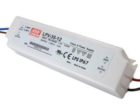 NAPAJALNIK LPV-35-12 35W 3A 12VDC IP67