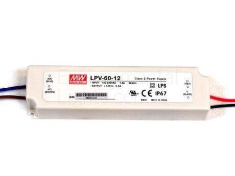 NAPAJALNIK LPV-60-12 60W 5A 12VDC IP67