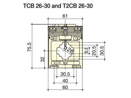 TOKOVNI TRANSFORMATOR TCB26-30 50/5A 1% 1VA ZA KABEL ALI LAMO SOCOMEC