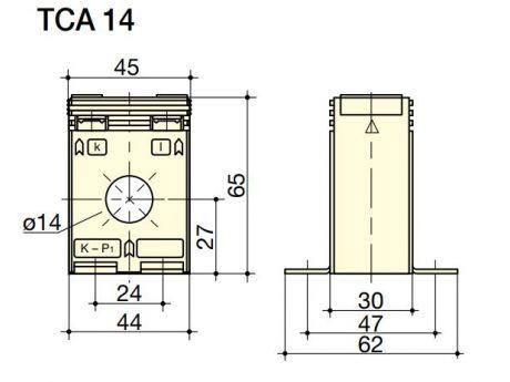 TOKOVNI TRANSFORMATOR SKOZNIŠKI TCA 14 40/5A CL1 1VA SOCOMEC 192T1404