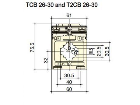 TOKOVNI TRANSFORMATOR TCB26-30 100/5A 1,5VA  SOCOMEC 192T2310