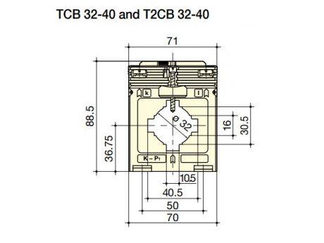 TOKOVNI TRANSFORMATOR TCB32-40 600/5A 1,25VA ŽIGOSAN SOCOMEC 192T4060ZIG