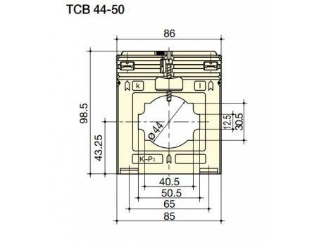 TOKOVNI TRANSFORMATOR TCB44-50 400A/5A 10VA  SOCOMEC 192T5040