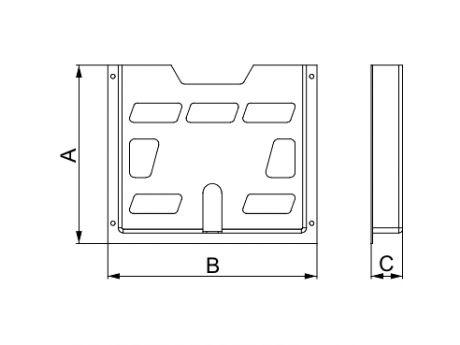 A4 PREDAL ZA NAČRTE PLASTIČNI D22 NSYDPA4
