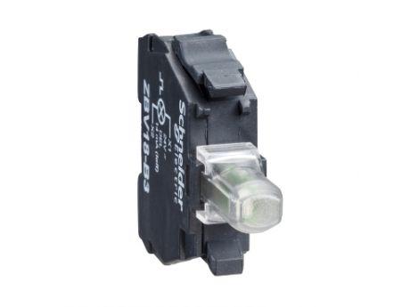 BLOK Z RDEČO LUČ. ZA GLAVO Ø22 VGR. LED LUČ. 230 DO 240 V, PRIK. Z VIJAČ. OBJEM. ZBVM4