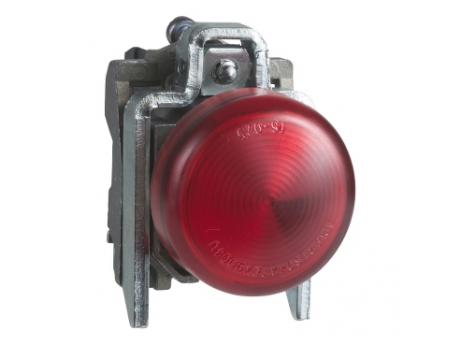 OKROGLA SIGNALNA SVETILKA Ø 22 - IP65 - RDEČA - VGR. LED - 24 V - DRŽALA - ATEX XB4BVB4EX