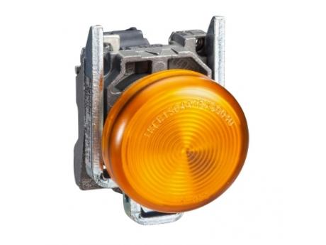 OKROGLA SIGNALNA SVETILKA ?22 - IP65 - RUMENA - VGR. LED - 120 V - DRŽALA - ATEX XB4BVG5EX