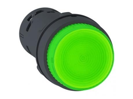 OSVETLJENA TIPKA - LED - POVRATNA VZMET - 1 NO - ZELENA - 230 V XB7NW33M1