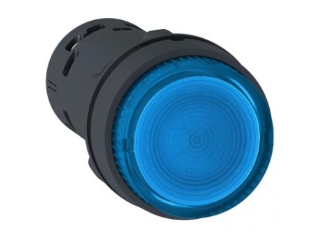 OSVETLJENA TIPKA - LED - POVRATNA VZMET - 1 NO - MODRA - 230 V XB7NW36M1