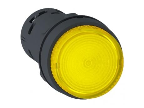 OSVETLJENA TIPKA - LED - POVRATNA VZMET - 1 NO - RUMENA - 24 V XB7NW38B1