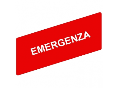 OZNAČENA LEGENDA 8 X 27 MM ZA NOSILEC LEGENDE 30 X 40 MM - EMERGENZA ZBY02630