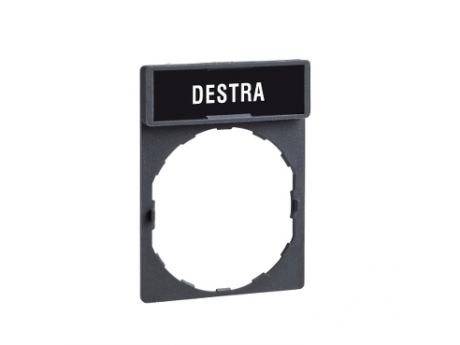 NOSILEC LEGENDE 30 X 40 MM Z LEGENDO 8 X 27 MM Z OZNAKO DESTRA ZBY2609