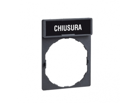 NOSILEC LEGENDE 30 X 40 MM Z LEGENDO 8 X 27 MM Z OZNAKO CHIUSURA ZBY2614