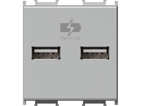 POLNILNIK MODUL USB 5V 1A 2M SREBRN EM65ES-U PAKIRANJE UNIPACK