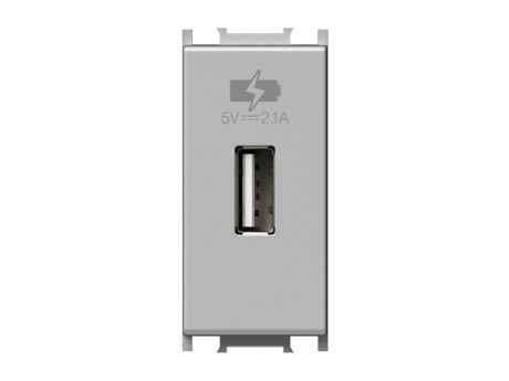 POLNILNIK MODUL USB 5V 2,1A 1M  SREBRN EM66ES-U PAKIRANJE UNIPACK