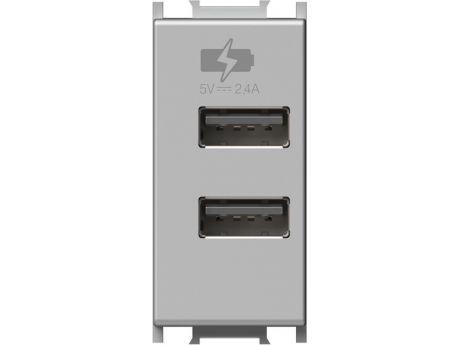 POLNILNIK MODUL 1M USB 5V 2,4A SREBRN EM67ES-U PAKIRANJE UNIPACK