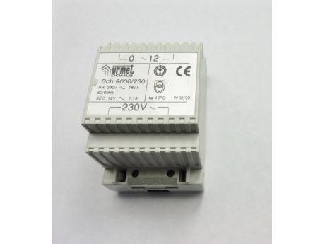 TRANSFORMATOR 230V 12V AC 1+1  URMET  9000/230